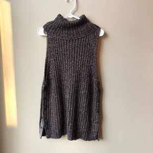 Free People Turtleneck with Button Side Detail